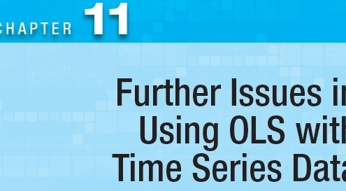 Further Time Series Issues